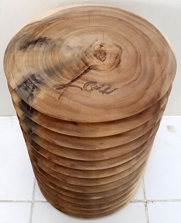 natural rain tree stool