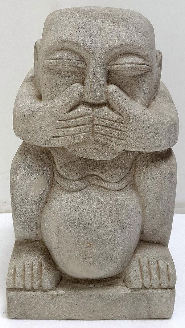 dumb man stone sculpture