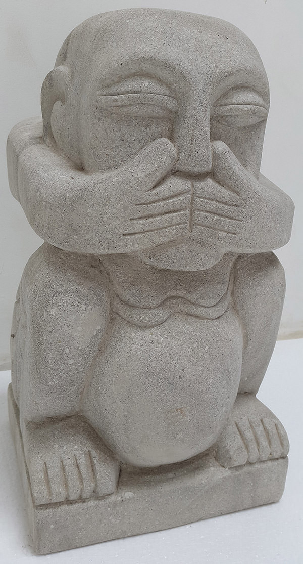 dumb man stone sculpture for decoration