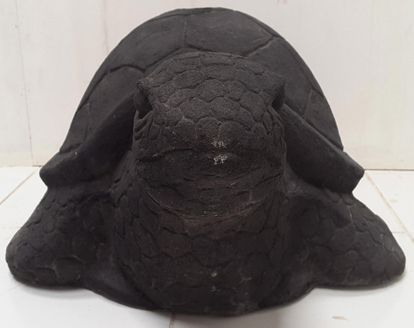 black turtle figurine