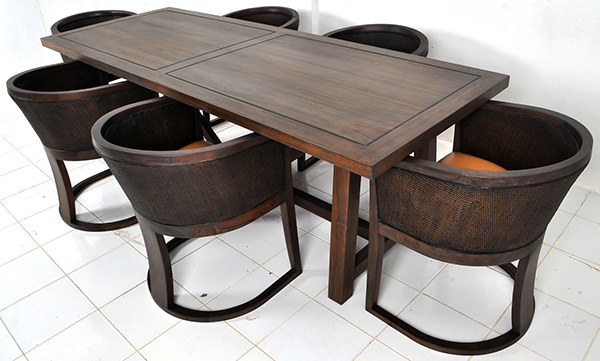 rectangular restaurant dining tables and chairs