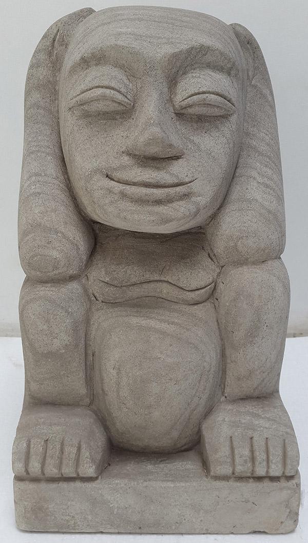 deaf man stone sculpture for decoration