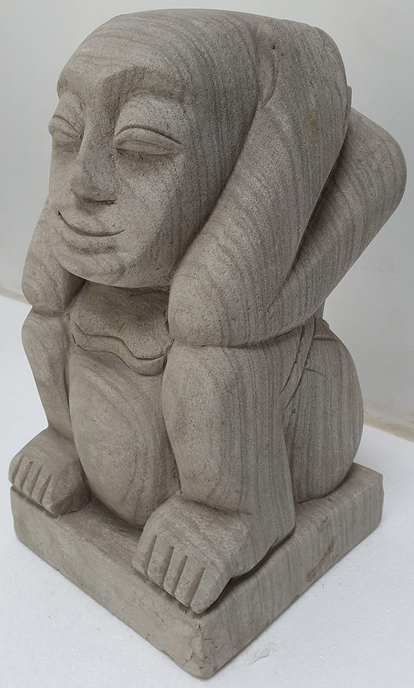 deaf man stone sculpture for decoration for house