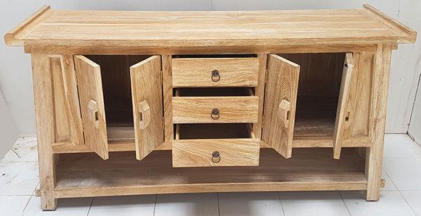 cabinet with teak doors