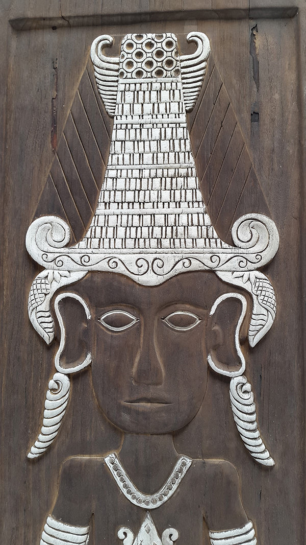 tribal wall carved deco
