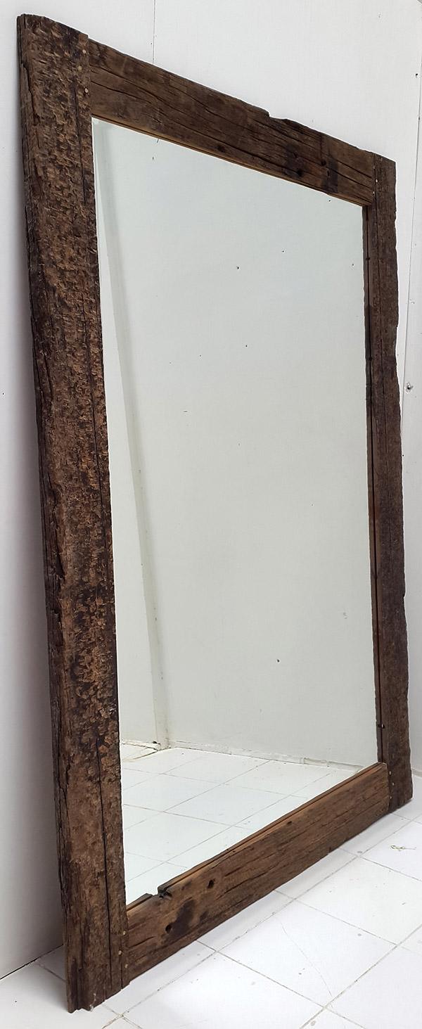 big rail wood mirror