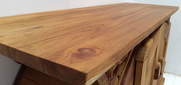 natural teak wood matte finish