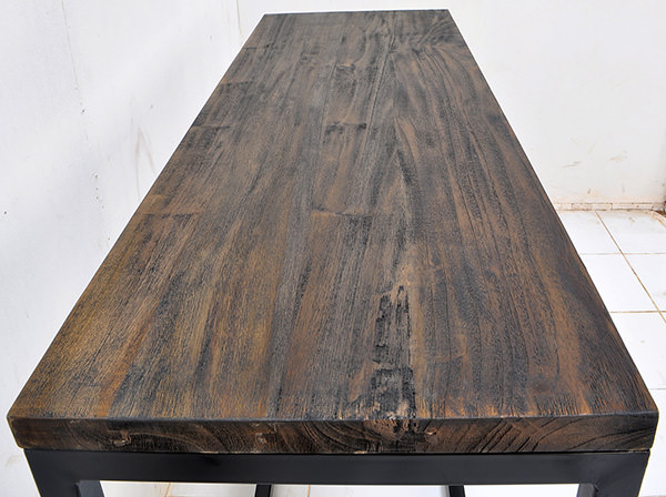 wood burnt table
