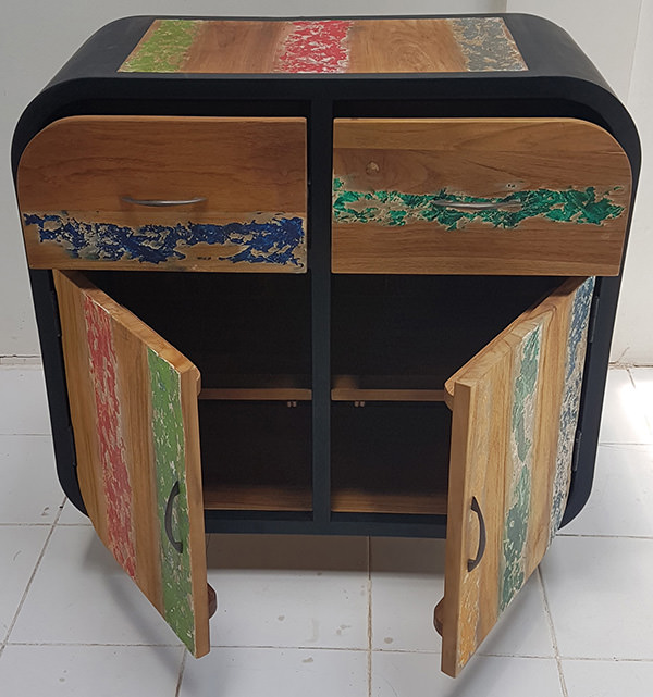 furniture manufacturer of manufacturing of traditional boat wood buffet with two drawers and two doors