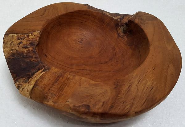 teak wood fruit bowl