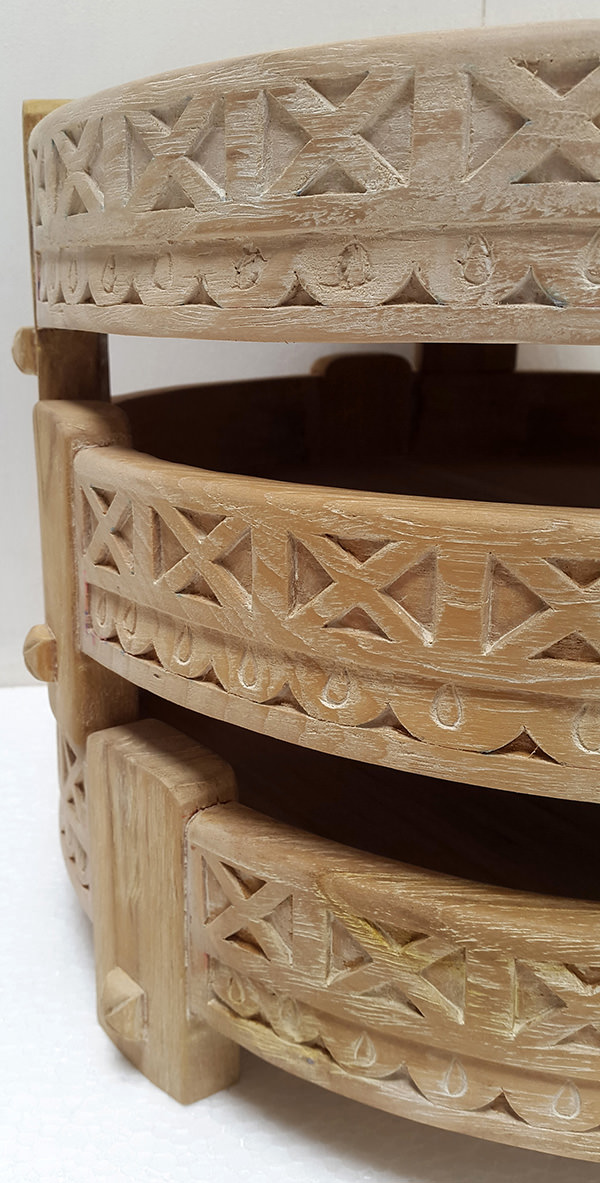wooden carved round trays