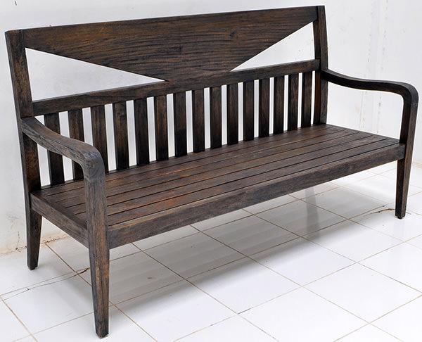 Yakisugi teak bench manufacturing