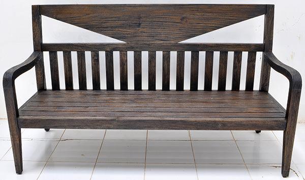 Yakisugi teak bench
