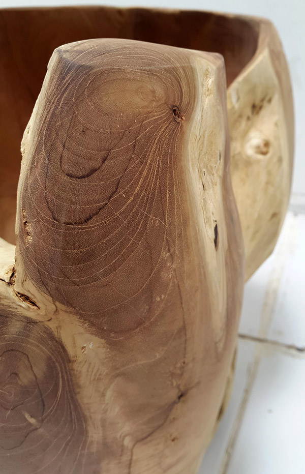 solid wood with natural shapes