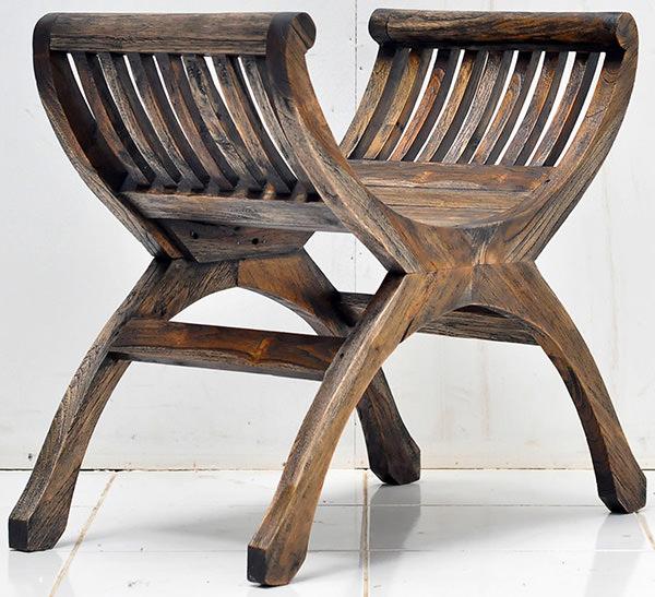 Italian teak garden stool