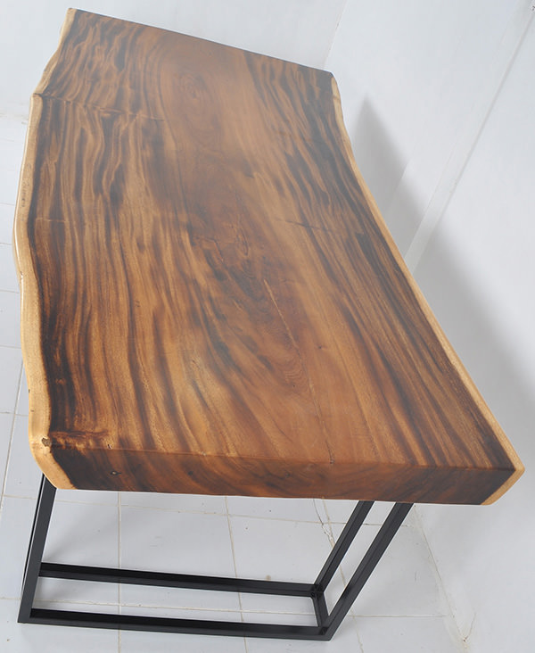 Monkeypod table with natural shape