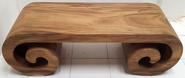 rain tree bench with natural color
