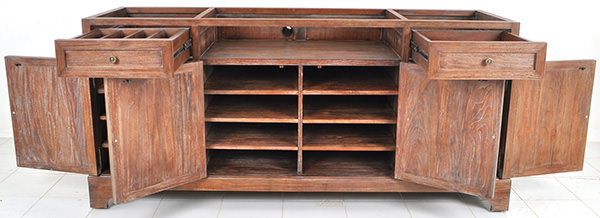 mahogany restaurant waiter station without top
