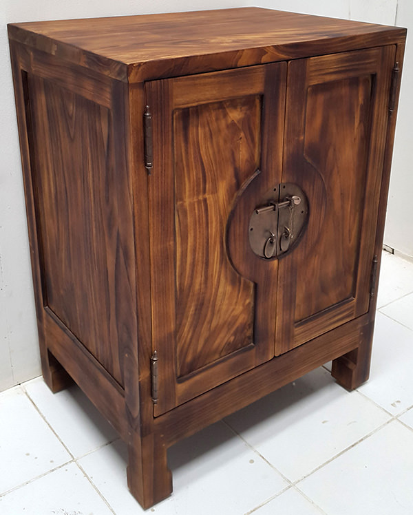 oriental teak indoor antique night stand