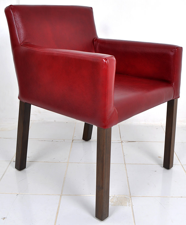 red genuine Italian leather chair