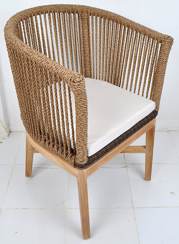 Mid-century design furniture with natural rope