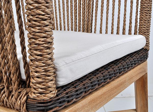 Rope, rattan and teak furniture