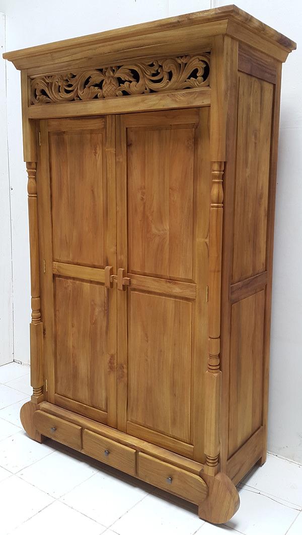 solid teak wood wardrobe manufacturing