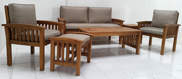 Teak Garden Furniture Manufacturing For A Store In Japan