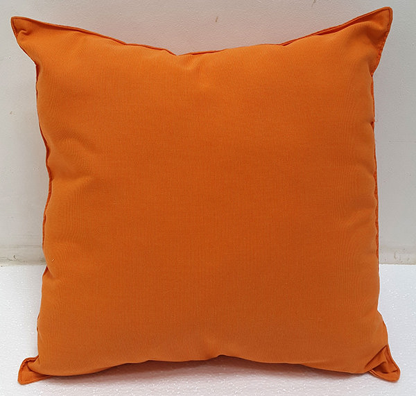 orange outdoor fabric pillow
