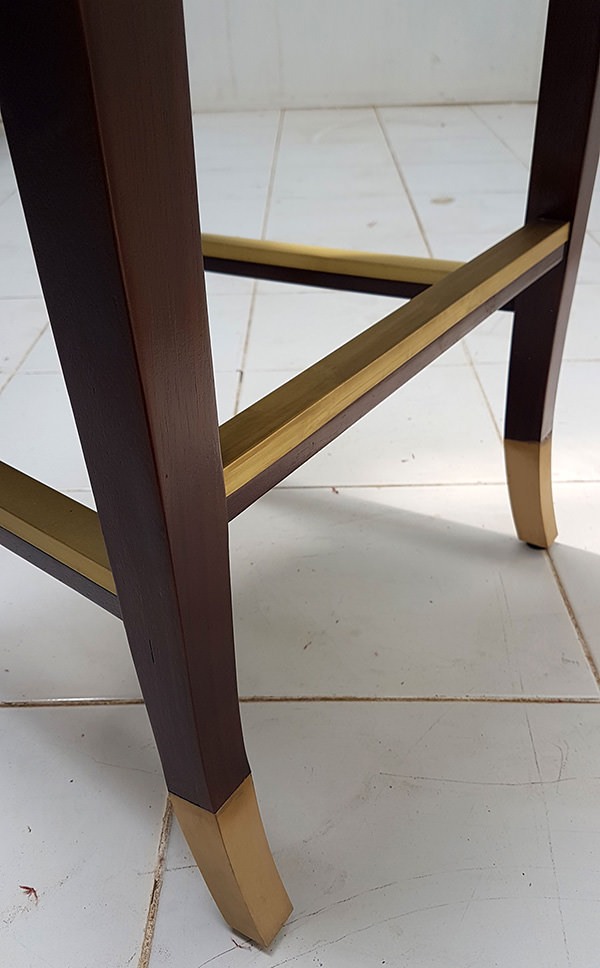 brass foot rests