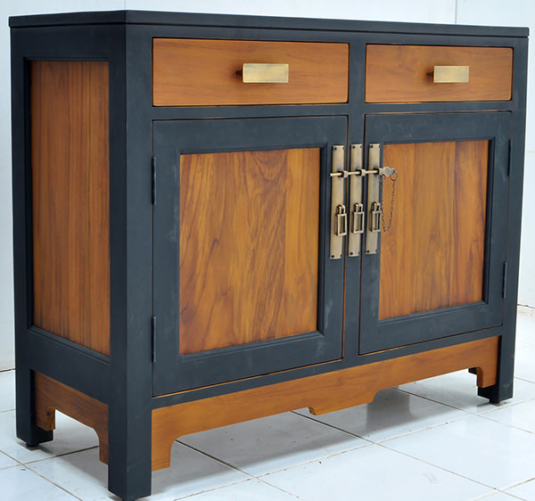 natural and black teak wood chinese furniture