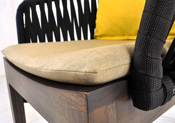 outdoor Scandinavian dining chair with cushion