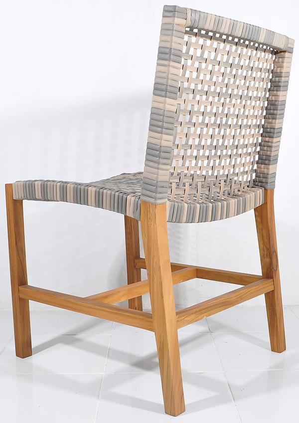 Danish rattan dining chair