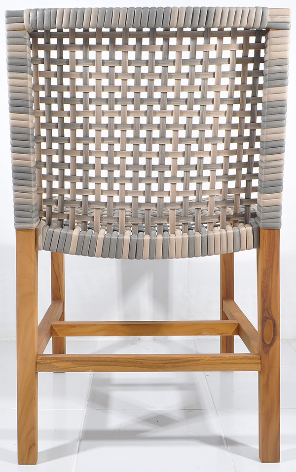 Danish synthetic rattan dining chair