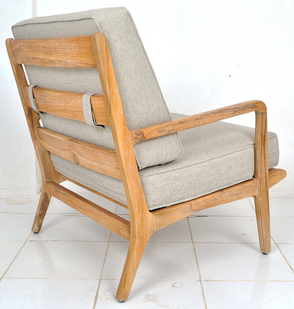 indoor wide armchair with fabric