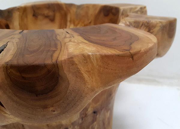 solid wooden pot