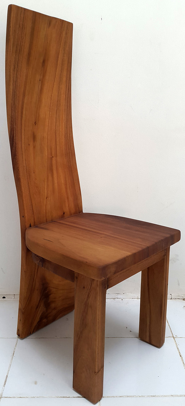 natural matte solid suar dining chair