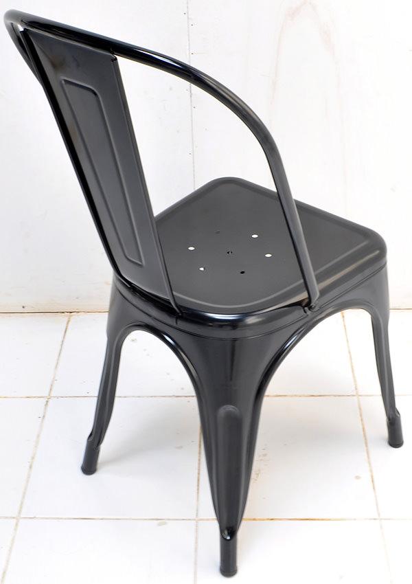 Classic black iron dining chair