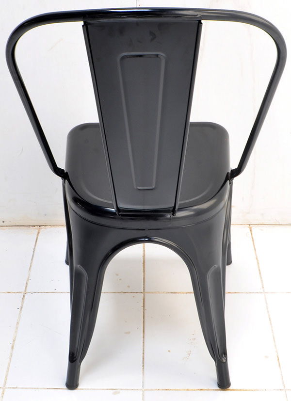 Classic black iron dining chair with Danish design