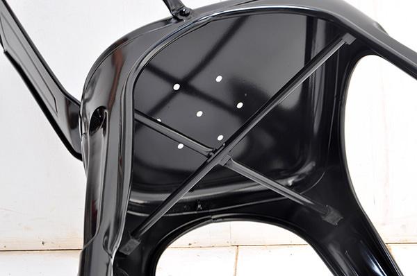 Black iron chair
