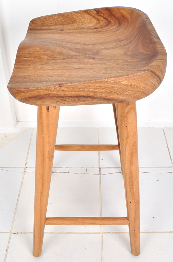 solid teak counter bar stool