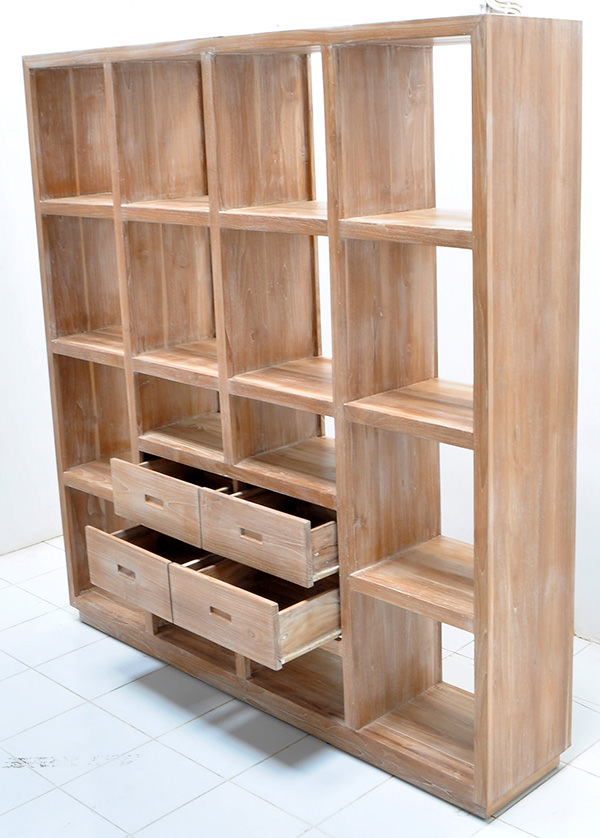 teak wooden book rack