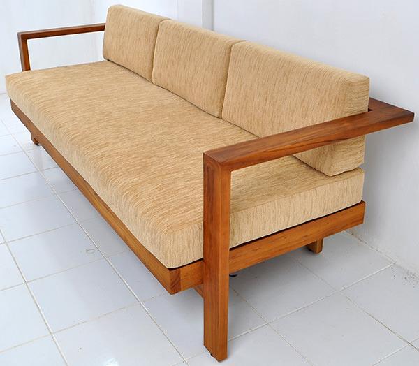 teak indoor couch