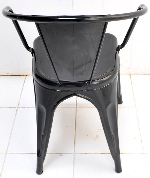 indoor black iron chair
