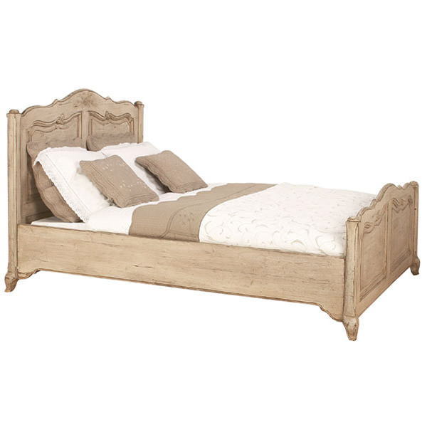 french beds with natural finishing