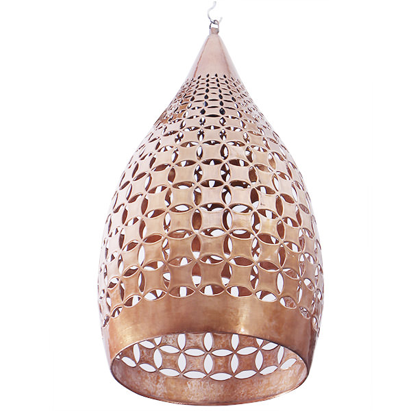 copper hanging lamp with natural color