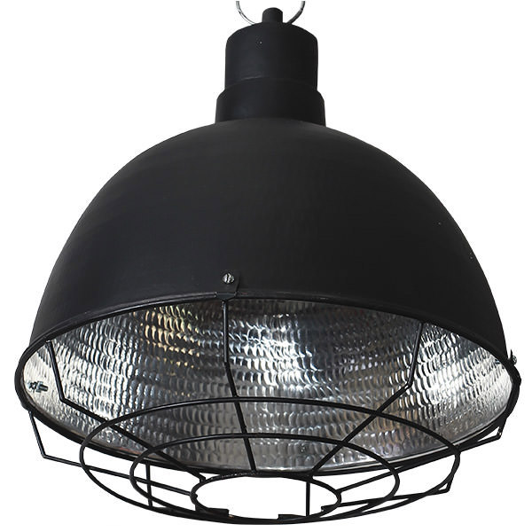 black and silver copper lamp with grill