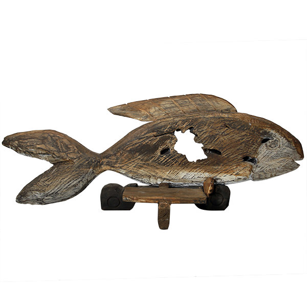 recycled wood fish