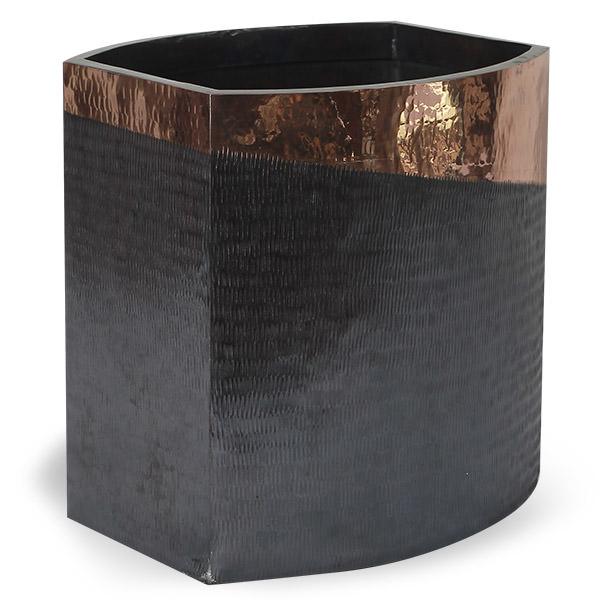 black and gold copper vase