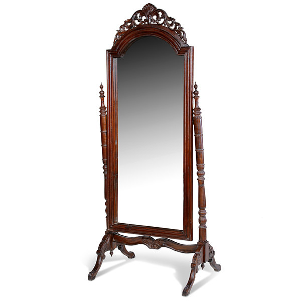 Decoration miroir sur pied en bois for Grand miroir long